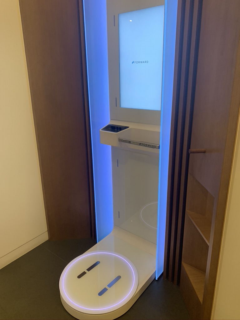 A Forward body scanner